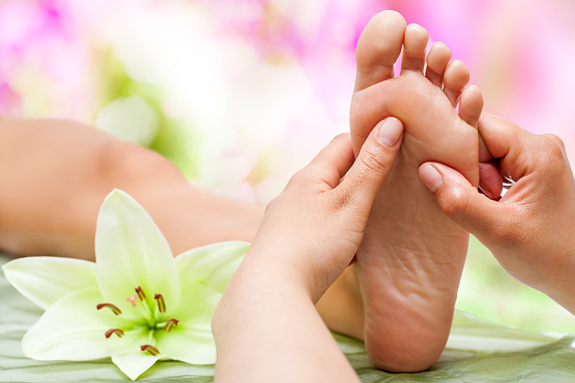 reflexology labor postpartum